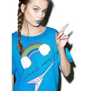 Wildfox Couture 'Mermaids Never Cry' Frenchie tee